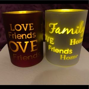 "Flameless candles - set of two 4"" x 3"""